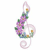 Floral Music Notes -3
