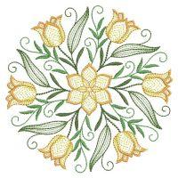 Rippled Floral Wreath