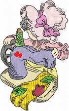 Grandma Sewing Colour