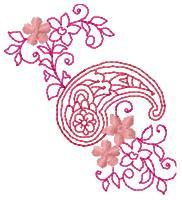 Pink Paisley and Blossoms