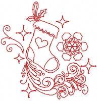 Christmas Redwork