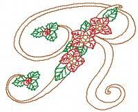 Poinsettia Alphabet