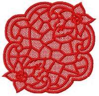 Semi-Freestanding Poinsettia Lace