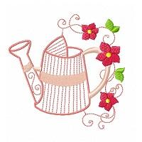 Watering Cans and Flowers