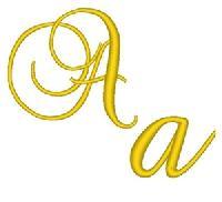 Cursive Gold Alphabet
