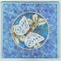 ITH Butterfly Dreams Sq Tissue Box Cover