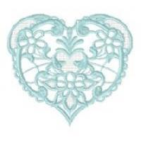 Drawn Thread Hearts