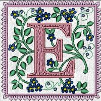 Forget-Me-Not Monograms Quilt