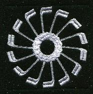 Keyboard Snowflakes Set C