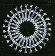 Keyboard Snowflakes Set D
