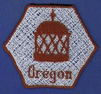 Oregon FSL Bowl And Doily