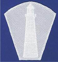 Daymark Lighthouse Lace Bowl and Doily
