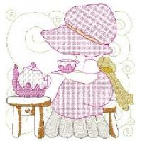Sunbonnet Tea Party  Quilt