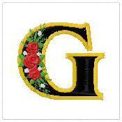 Victorian Rose Applique Monograms