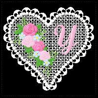 Lace Heart Alphabet