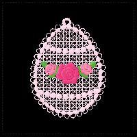 easter free-standing lace fsl decoration rose