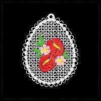 easter free-standing lace fsl decoration anthuria