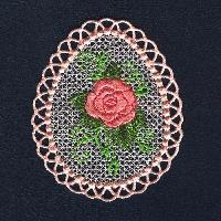 Free-standing lace designs.