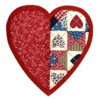 Patchwork Applique Hearts