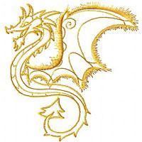 Fantasy Redwork Dragons