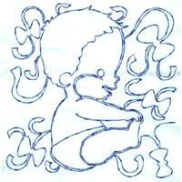 Blue Baby Boy Lineart