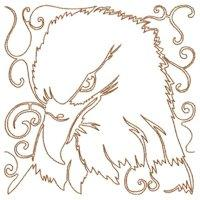 Quilted Lineart Eagles