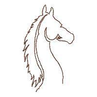 Lineart Wild Horses