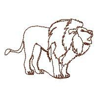 Lineart Lion Blocks