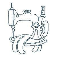 Sewing Machine Lineart - Set 2