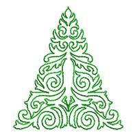 Lineart Christmas Trees - Set 2