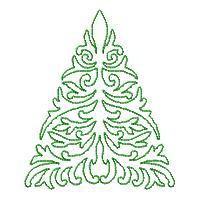 Lineart Christmas Trees - Set 2