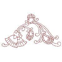 Paisley Redwork