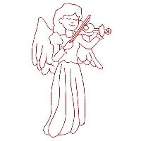 Redwork Angels