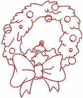 Christmas Redwork 1