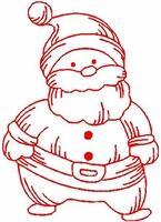 Christmas Redwork 2
