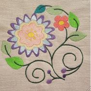 Jacobean Floral Circles