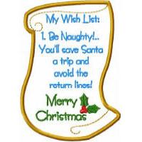 Lynna Christmas List Dangler