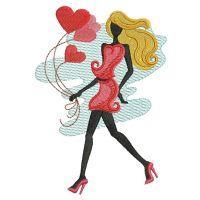 Silhouette Valentines Girls