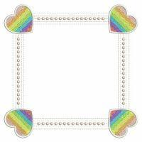 Rainbow Heart Frames