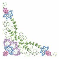 Candlewick Jacobean Flower Corners