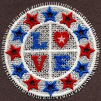 FSL Patriotic Doily