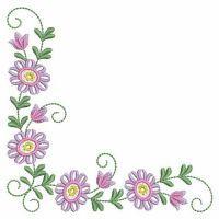 Colorful Flower Corners