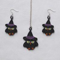 FSL Halloween Earrings And Pendant