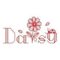 Redwork Rippled Daisy