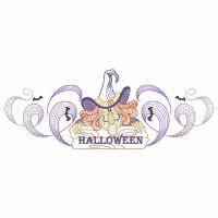 Rippled Halloween Border
