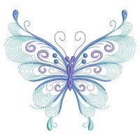Rippled Swirly Butterfly