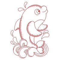 Redwork Sea Animals 2
