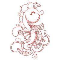 Redwork Sea Animals 2