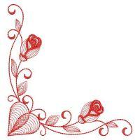 Redwork Valentines Day
