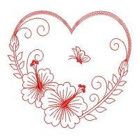 Redwork Hibiscus